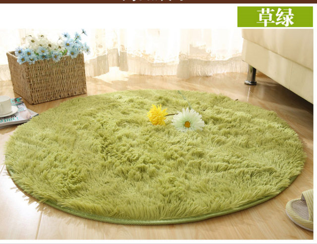Free Shipping Nap 4 5cm 120 120cm Round Washable Super Cute Rug Living Room