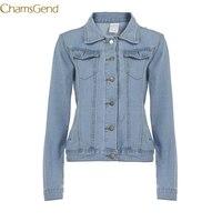 Chamsgend Blue Denim 2017 Women Jacket Winter Warm Slim Bomber Jacket Clothing Women Plus Size Coat