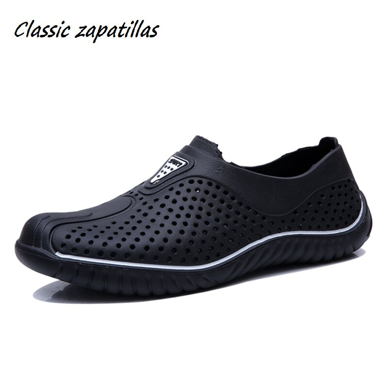 Classic Zapatillas 2019 Breathable Summer Men Sandals Shoes Hollow Breathable Ultra Light Beach Shoes Casual Men Sandals Outdoor