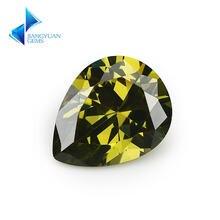 50 шт форма груши 5a черный оливковый cz камень 2x3 13x18 мм