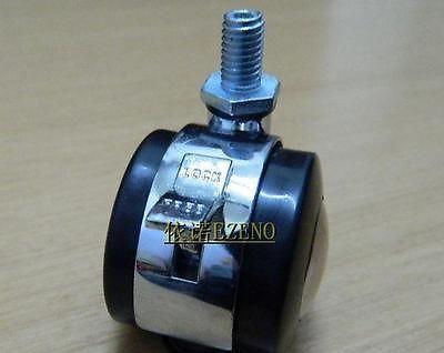 "4x1.97""Zinc Alloy Swivel Wheel Casters Wheel Bearing with Brake 8mm Screw Dia QC"