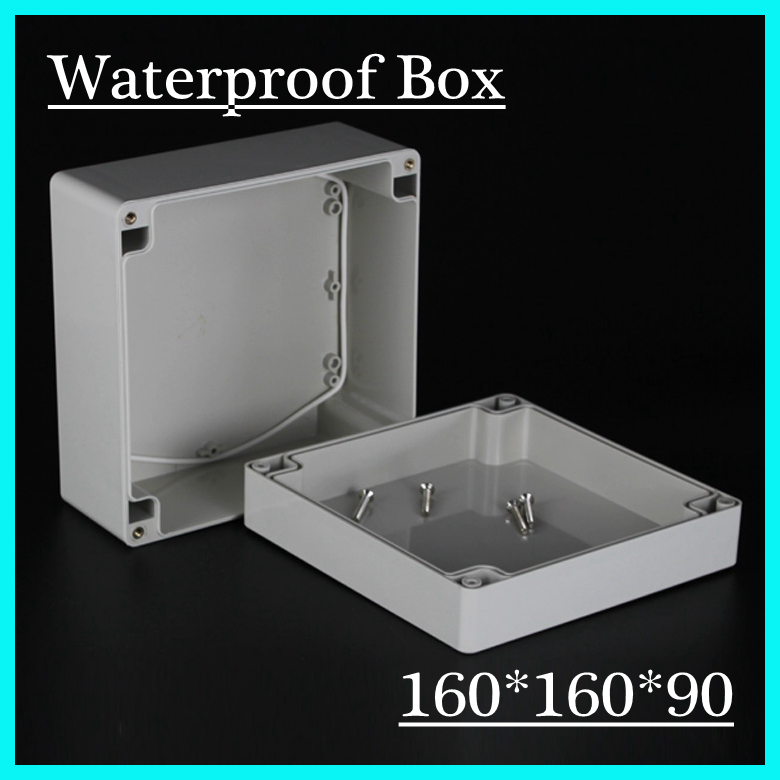 1Set Hot Worldwide Waterproof Enclosure Case Electronic Junction Project Box 160*160*90mm 1 piece lot 160 110 90mm grey abs plastic ip65 waterproof enclosure pvc junction box electronic project instrument case