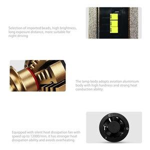 Image 5 - LSlight LED Phare H7 H4 H11 H1 9005 HB2 HB3 H8 H9 LED אוטומטי פנס הנורה 6000K 9600LM 72W 12V רכב אור דיודה קרח מנורת luces