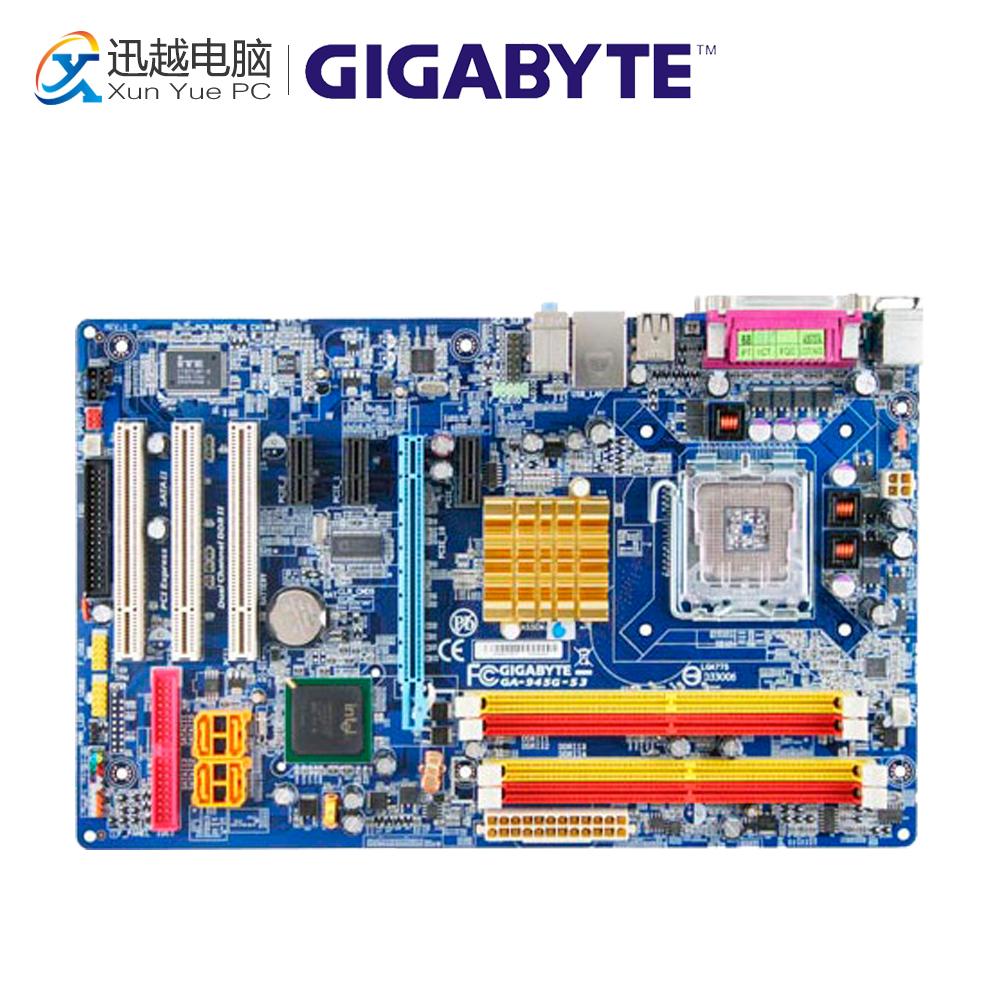 Gigabyte GA-945G-S3 Desktop Motherboard 945G-S3 945G LGA 775 DDR2 ATX 945g dvr industrial motherboard needle ddr2 dual channel strengthen performance 100% tested perfect quality