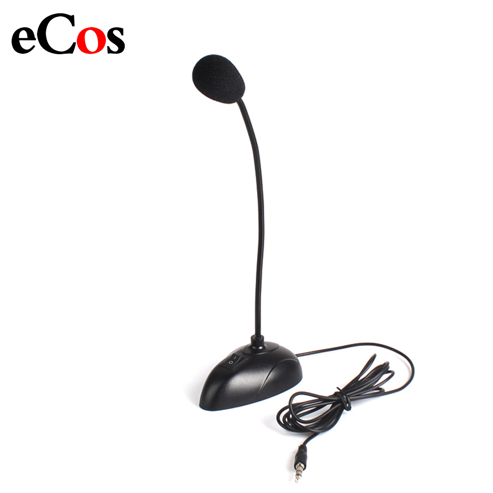Flexible Stand Mini Studio Speech Microphone 3.5mm Plug Gooseneck Mic Wired Microphone For Computer PC Desktop Notebook #21230