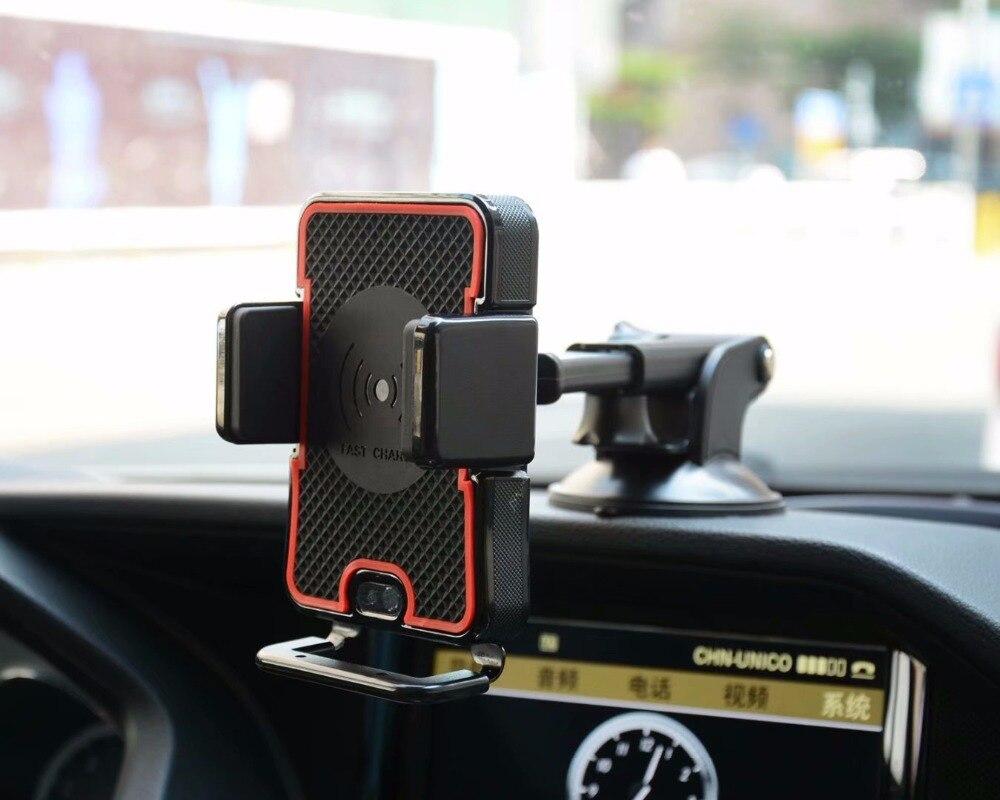 Pince d'aération de voiture capteur infrarouge d'aspiration chargeur sans fil porte-téléphone Mobile se monte pour iPhone X XR XS Max 8 Plus