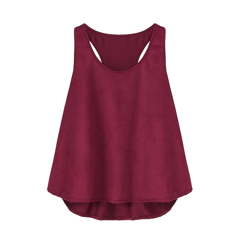 Women Tank Top Summer Vest Sleeveless Solid Color Casual Shirt O Neck Tank Top Women Loose Summer Tops Women Clothing