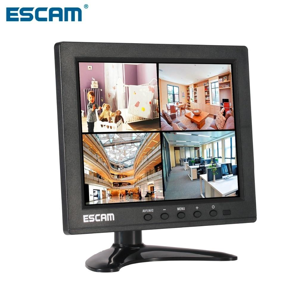 bilder für ESCAM T08 8 zoll TFT LCD 1024x768 Monitor mit VGA HDMI AV BNC USB für PC Cctv kamera
