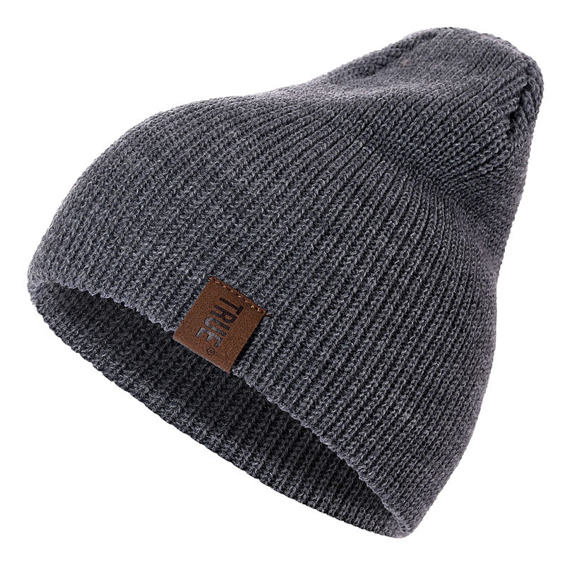 HTB1wC5yXyzxK1Rjy1zkq6yHrVXa6 - 1 Pcs Hat PU Letter True Casual Beanies for Men Women Warm Knitted Winter Hat Fashion Solid Hip-hop Beanie Hat Unisex Cap