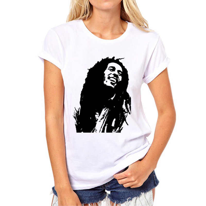 231fd8678c New Fashion Bob Marley rock music women t shirt style Short-sleeved white  3D printed