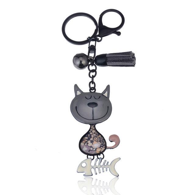 Cat Shaped Enamel Keychains