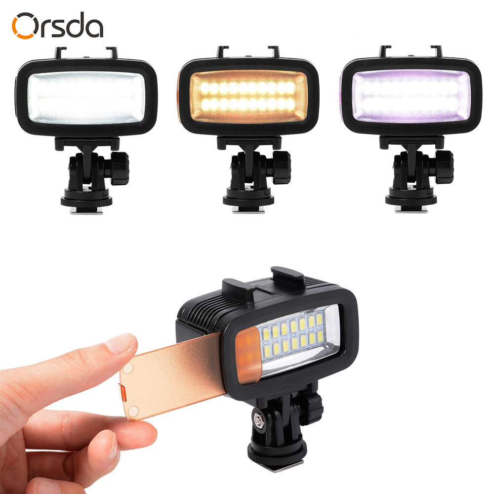 Image 4 - Orsda Diving Light Video LED High Power Outdoor Waterproof Lamp For GoPro SJCAM Sports Action Cameras flash gopro Lights-in Sports Camcorder Cases from Consumer Electronics