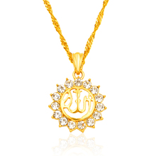 Arabic Religious Women Muslim Islamic God Allah Gold color Pendant Necklace Jewelry
