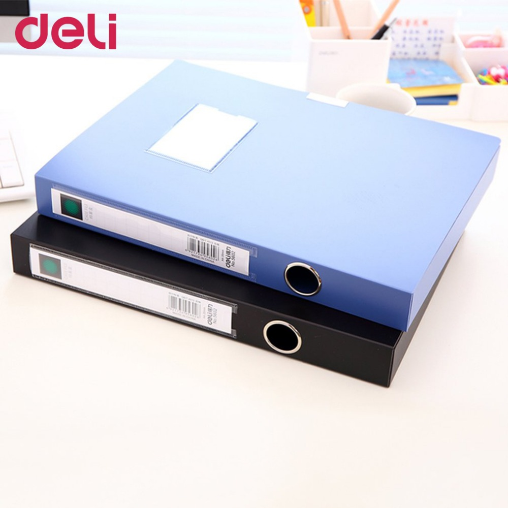 Deli 5602 Document Box With 2Adhesive Buckle Practical Office Supplies Plastic File Box Information Box Also For School comix mc 55 a4 practical plastic file box information boxes document files box storage cases paper organizer office supplies