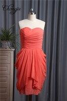 Коктейльные платья Розовые Короткие Элегантный одно плечо рукавов Короткие Новое поступление 2017 года специальные Нарядное платье