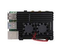 Raspberry Pi CNC Aluminum Alloy Case Shell Enclosure Cooling Fan Heat sink for Raspberry Pi 4 Model B 3B 3B+