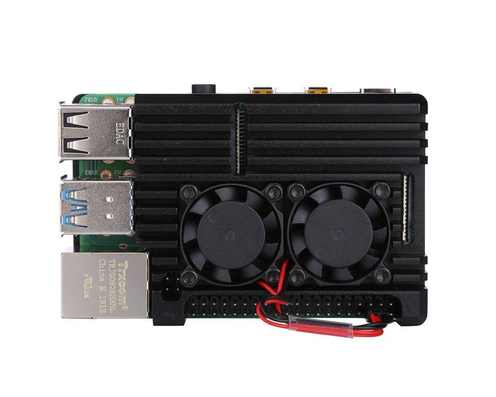 Raspberry Pi CNC Da Liga de Alumínio Caso Shell Gabinete Ventilador de Refrigeração do dissipador de Calor para Raspberry Pi Modelo B 3B 4 3B +