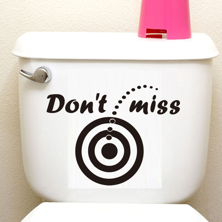 Funny Quotes Toilet Sticker Dont Miss Diy Waterproof Bathroom WC Black Vinyl Decals For Shop Office Home Cafe Hotel