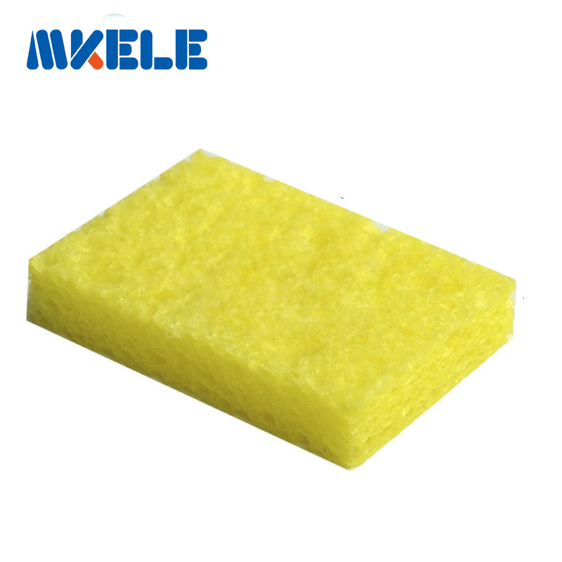 Yellow Hot New Arrival 50pcs/Set High Temperature Enduring Square Shape Electric Welding Soldering Iron Cleaning Sponge