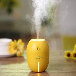 Tuansing novo 180 ml limão mini usb portátil ultra-sônico umidificador dc 5 v led luz purificador de ar névoa maker para escritório em casa carro