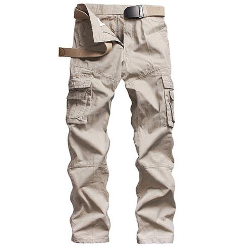 Wholesale 2019 Outdoor Autumn Winter Leisure men's wear overalls Multi pocket washing military men cotton cargo pants men
