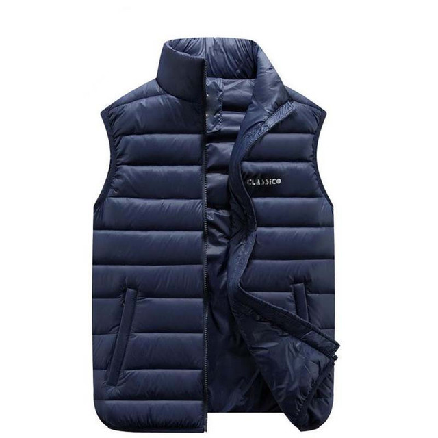 Winter Thicken Vest Men Fashion Casual Coats Male Cotton-Padded Man Sleeveless Thickening Waistcoat Plus Size M-6XL Mens Jacket