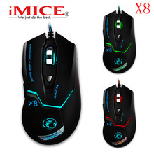 3D LED Light Gamer Wired Mouse 1600 DPI Optical Gaming Mouse with 6 Buttons for PC Computer Laptop Desktop Game With air mouse