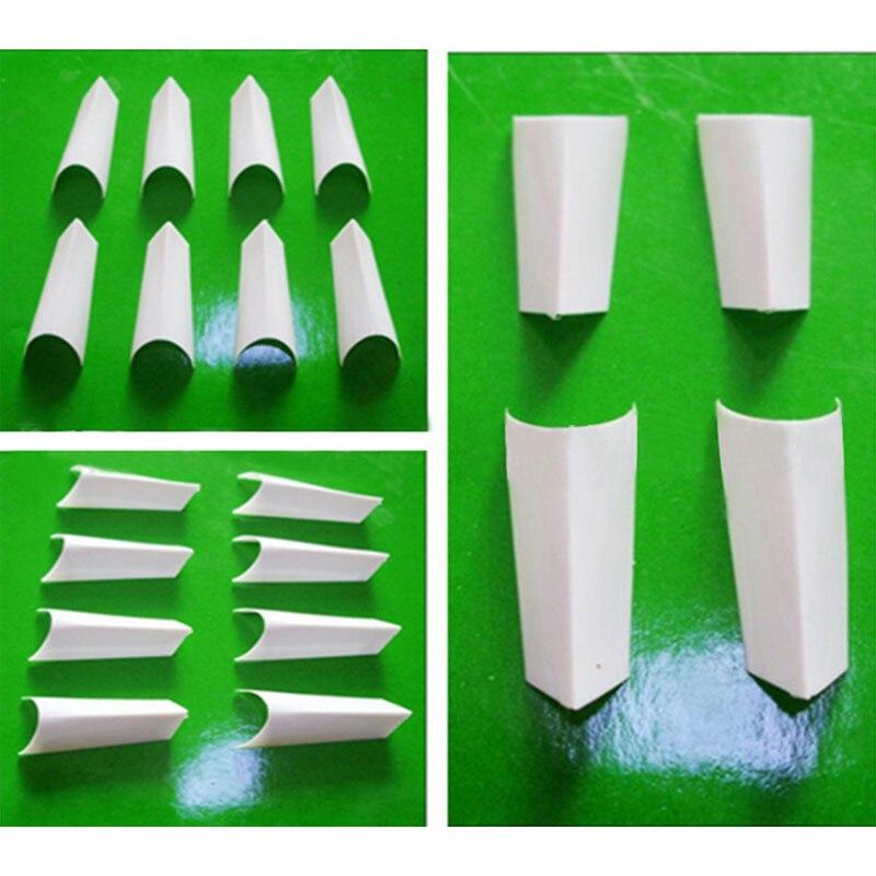 ᗖ100 unids Manicura falso uñas Consejos francés manicura artificial ...
