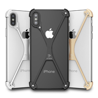 OATSBASF X Shape Case For IPhone X Case Personality Shell For IPhone X Metal Bumper Cover
