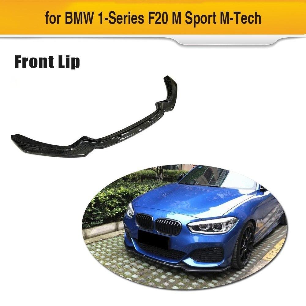 Voiture De Fiber De carbone Pare-chocs Avant Lip Spoiler Tablier pour BMW F20 M Sport 120i Hayon 2 Porte 4 Porte 2016 2017 2018