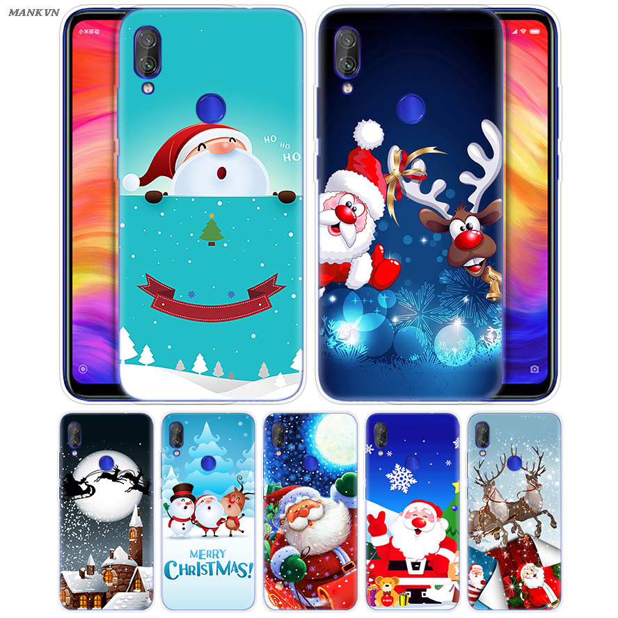 Merry Christmas Santa Claus Print Case for Xiaomi Mi Play 8 A2 6X Rubber Cover For Redmi 6 6A Note 7 6 5 4 4X Lite Pro Cover