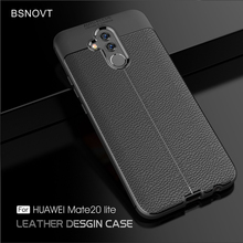 For Huawei Mate 20 lite Case Silicone Soft PU Leather Anti-knock Cover 6.3