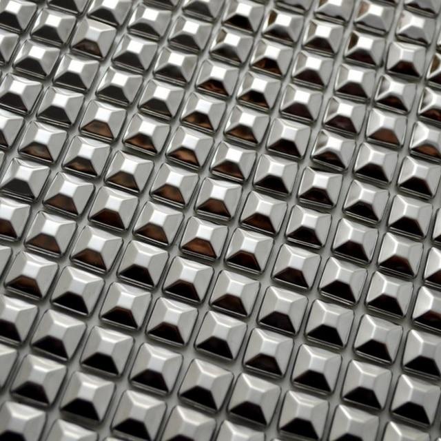 Selbstklebende Pyramide Edelstahl Metall Mosaik Fliesen Pyramide Muster Für  Badezimmer Dusche Küche Backsplash Fliesen