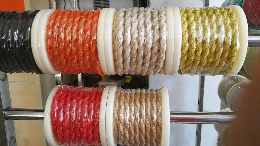 100 m 2x0.75 Vintage corde fil torsadé câble rétro tressé électrique fil de tissu bricolage lampe pendante fil vintage lampe cordon - 3