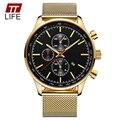 TTLIFE Brand 8227 New Business Gold Quartz Watches Men Waterproof Large Dial Men Watch Date Clock Relogio Masculino Wrist Watch