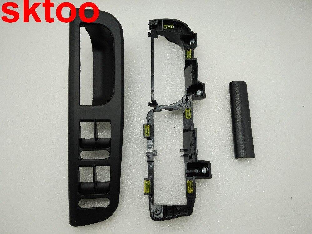 Sktoo 3 unids color negro para VW Bora Golf 4 interior puerta interruptor elevador soporte Bases CAPS 1j1 8671793b1 867 171 e 3b0867175