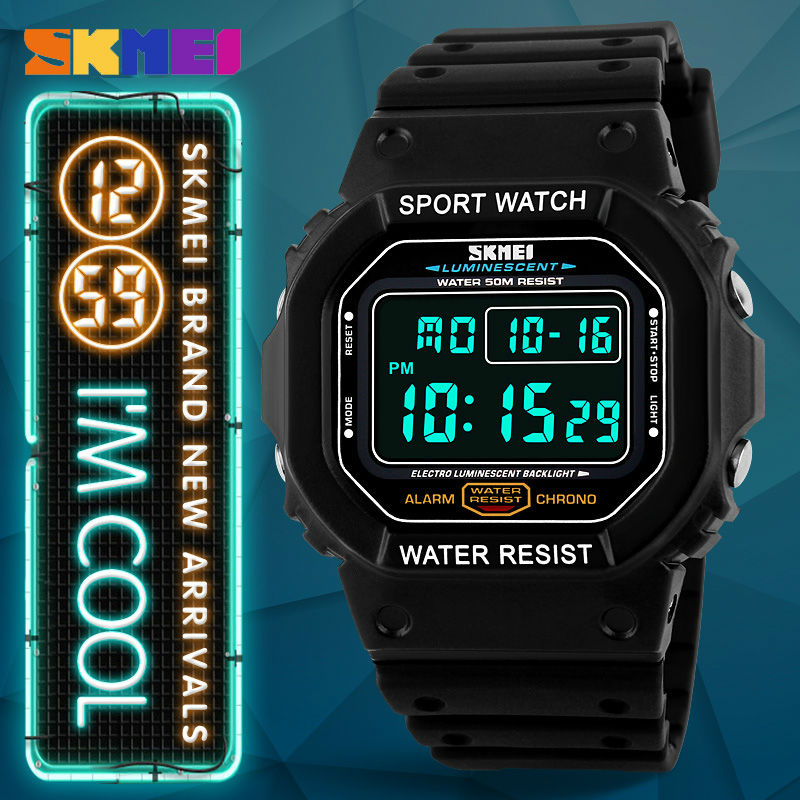 SKMEI G Style Digital Led Sports Watches 50M Waterproof Shock Fashion Casual Watch Brand Watches Wristwatches