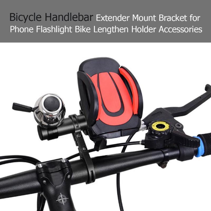 Bicycle Handlebar Extender Phone Light Bracket Bike Lengthen Mount Holder Mount