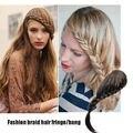 Новый Стиль Синтетические Волосы Коса Зажим В Волосах Fringe Взрыва Шиньоны Расширения Оплетка Поддельные челки волос Мода Шиньоны Свободный Корабль