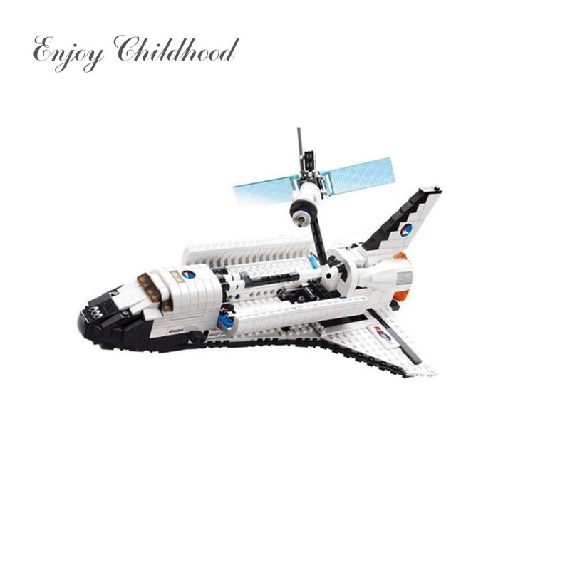 83004 Space Series Space Shuttle 630PCs Building Block Boys Bricks Toy Christmas Gift Jouet Enfant Legoings Educational Toys 297pcs space shuttle legoelied technic spacecraft astronaut pilot minifigures building block model bricks boy toy gift
