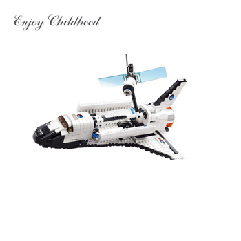 83004 Space Series Space Shuttle 630PCs Building Block Boys Bricks Toy Christmas Gift Jouet Enfant LeiNGly Educational Toys