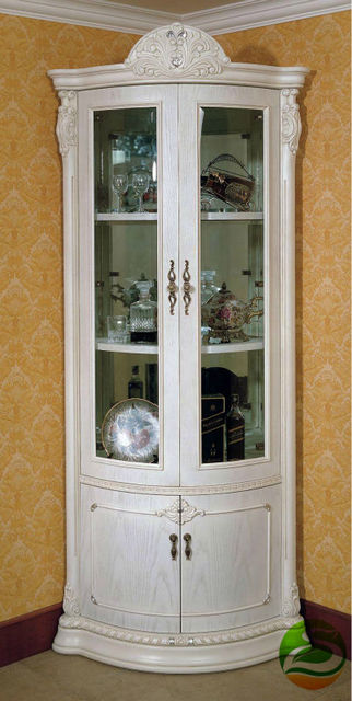High Quality White Wine Cooler Classic Wood Wine Cabinet Corner Cabinet