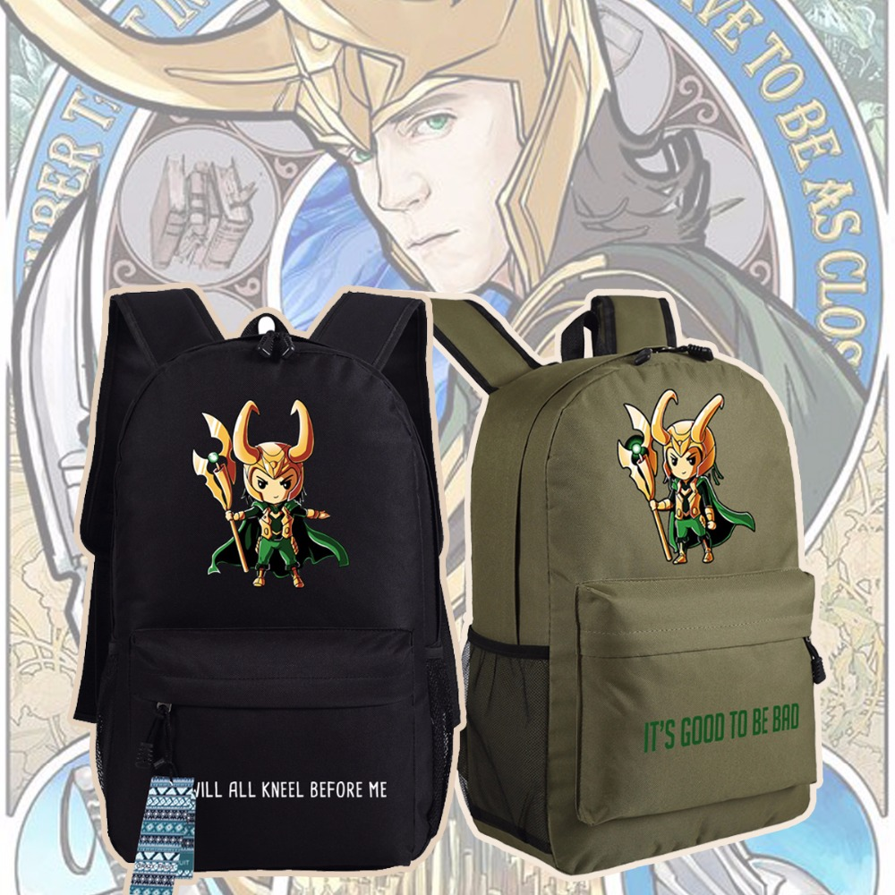 New Avengers 3 Infinity War Loki Backpack Anime oxford Schoolbags Fashion Unisex Travel Bag стоимость