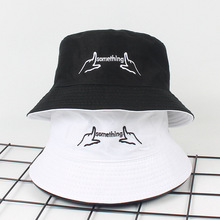 Letters Embroidery Reversible Bucket Hats For Men Women Japan and Korea Streetwear Harajuku Cap Ladies Summer Boonie Hat