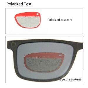 Image 5 - Ultralight Ultem Occhiali Da Vista Telaio Nero Delle Ragazze Dei Ragazzi Magnetica Clip di Occhiali Da Sole Polarizzati Uv400 Piazza Prescrizione Miopia Lente