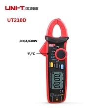 UNI-T UT210D Мини Цифровой Мультиметр Зажим 200A Авто Диапазон AC/DC Вольтметр Амперметр Сопротивление Емкость Температура C/F тестер