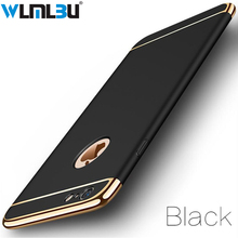 for iPhone 6s case Luxury Black Matte Hard 360 Protection Case For iphone 6 S 7 8 Plus Removable 3 in 1 Back Cover iphone6 X