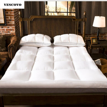 NEW bed twin queen size Thickening folding topper bed Mattress Topper 150*200 120*200 cheap Vescovo 7-10cm Bedroom Furniture Spring Polyester Fibre JIANGSU Home Furniture Spring Autumn Winter