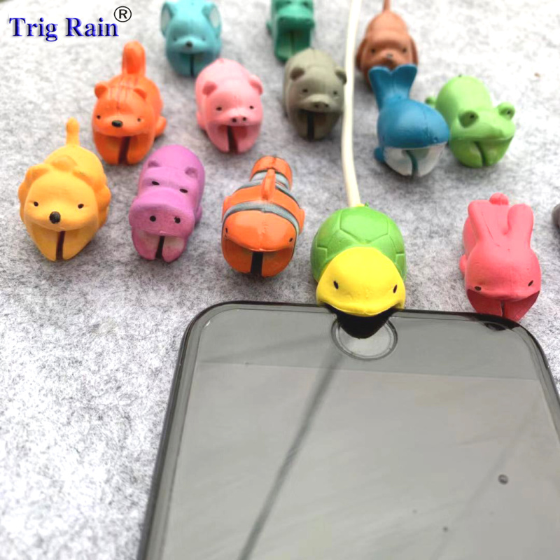 Cartoon Cable Bite Protector For IPhonex 5s 6plus 6s 7 8 Xs USB Animal Charger Data Line Cord Protector Case Cable Winder Cover