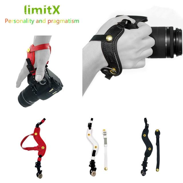 עור מצלמה רצועת יד גריפ יד עבור ניקון P1000 P900 P610 D4 D3 D610 D600 D500 D750 D700 D850 D810 d800 D300S D7000 D5000